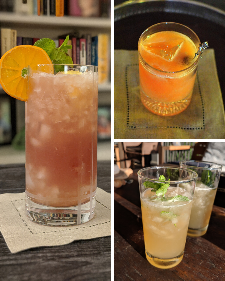 Various kinds of ice in cocktails